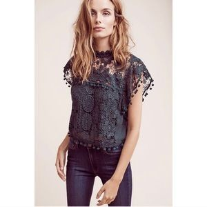 Anthropologie Tularosa Cropped Guerie Top
